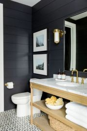 Rustic farmhouse bathroom ideas you will love (21)