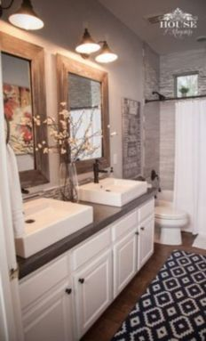 Rustic farmhouse bathroom ideas you will love (33)