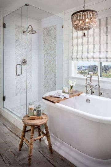 Rustic farmhouse bathroom ideas you will love (39)