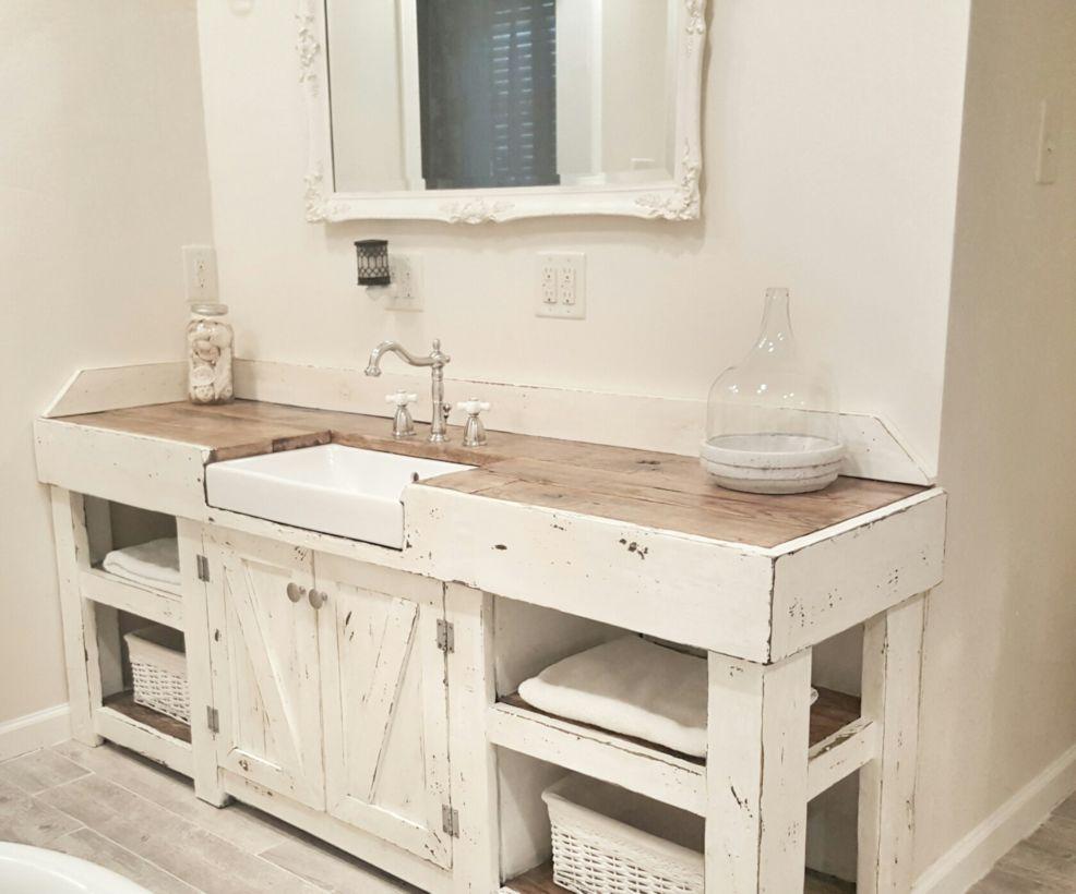 44 Rustic Farmhouse Bathroom Ideas You Will Love  ROUNDECOR
