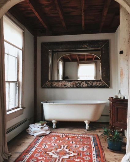 Rustic farmhouse bathroom ideas you will love (44)