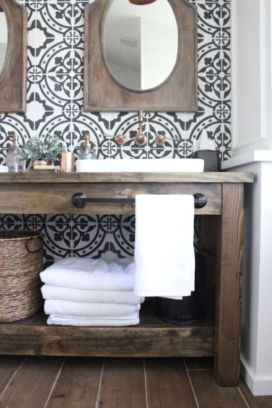 Rustic farmhouse bathroom ideas you will love (6)