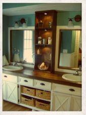 Rustic farmhouse bathroom ideas you will love (8)