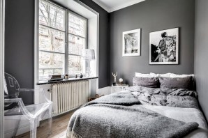 Scandinavian bedroom ideas for small apartment 04