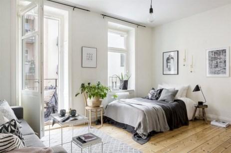 Scandinavian bedroom ideas for small apartment 09
