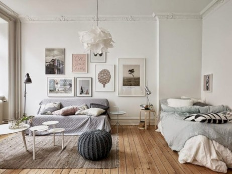 Scandinavian bedroom ideas for small apartment 12