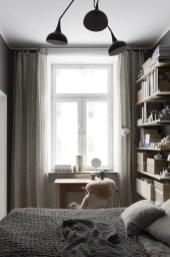 Scandinavian bedroom ideas for small apartment 16