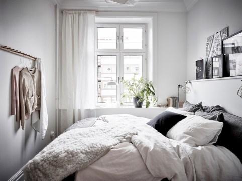 Scandinavian bedroom ideas for small apartment 20