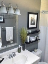 Simple bathroom ideas for small apartment 34