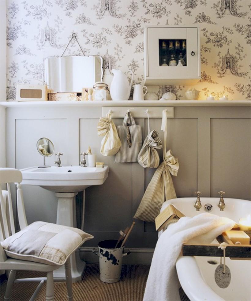 54 Small Country Bathroom Designs Ideas  ROUNDECOR