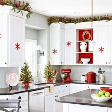 Stunning christmas kitchen décoration ideas 56 56