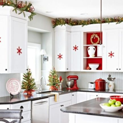 Stunning christmas kitchen décoration ideas 56 56