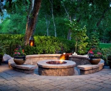 Stunning outdoor stone fireplaces design ideas 04