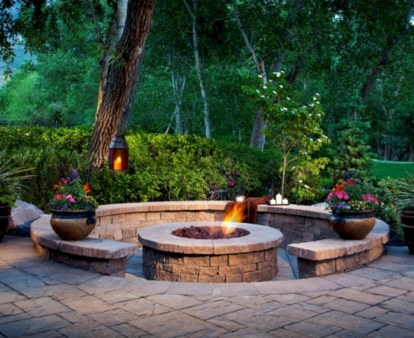 Stunning outdoor stone fireplaces design ideas 04