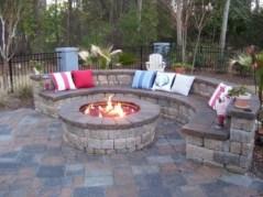 Stunning outdoor stone fireplaces design ideas 09