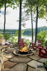 Stunning outdoor stone fireplaces design ideas 14