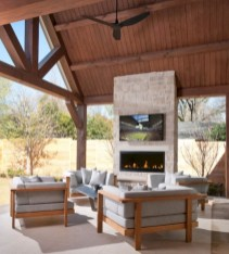Stunning outdoor stone fireplaces design ideas 24