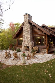 Stunning outdoor stone fireplaces design ideas 27