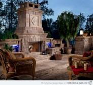 Stunning outdoor stone fireplaces design ideas 28