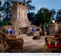 Stunning outdoor stone fireplaces design ideas 28