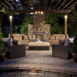 Stunning outdoor stone fireplaces design ideas 33