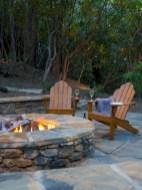 Stunning outdoor stone fireplaces design ideas 38
