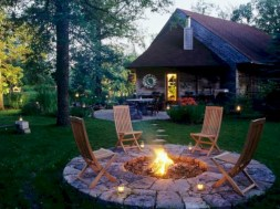 Stunning outdoor stone fireplaces design ideas 39