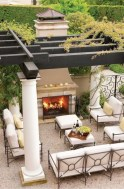 Stunning outdoor stone fireplaces design ideas 41