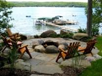 Stunning outdoor stone fireplaces design ideas 51