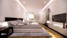 Stylish bedrooms with floor to ceiling windows 18