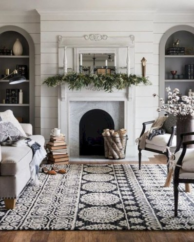 Stylish christmas décoration ideas with stylish black and white 01