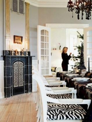Stylish christmas décoration ideas with stylish black and white 08