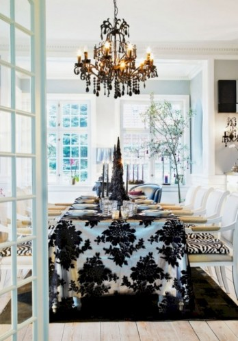 Stylish christmas décoration ideas with stylish black and white 37
