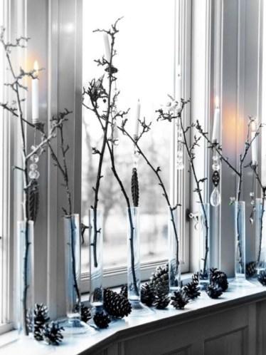 Stylish christmas décoration ideas with stylish black and white 38