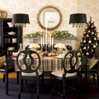 Stylish christmas décoration ideas with stylish black and white 49