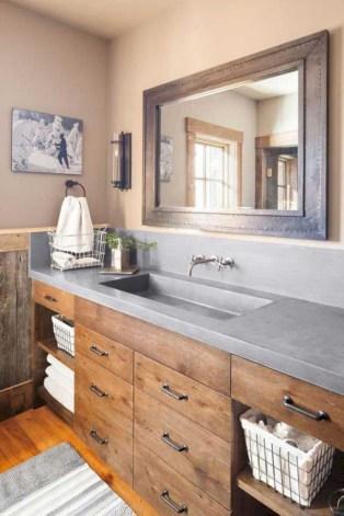 Unique diy bathroom ideas using wood (13)