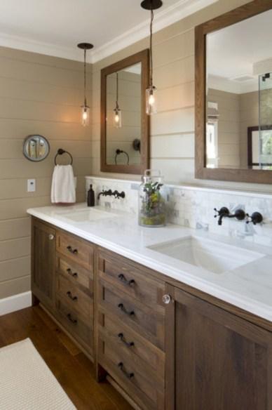 Unique diy bathroom ideas using wood (26)