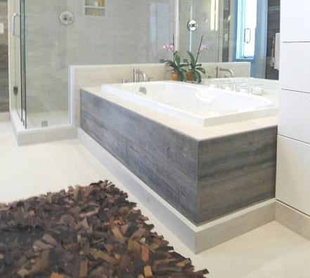 Unique diy bathroom ideas using wood (28)