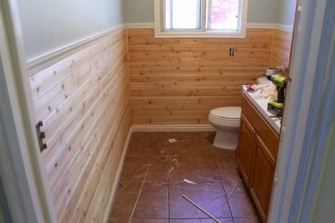 Unique diy bathroom ideas using wood (32)