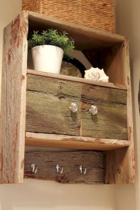 Unique diy bathroom ideas using wood (45)