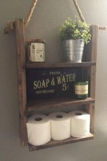Unique diy bathroom ideas using wood (7)