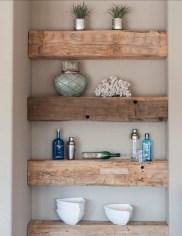 Unique diy bathroom ideas using wood (8)