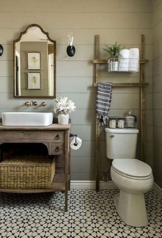 Vintage farmhouse bathroom ideas 2017 (38)