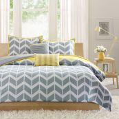 Visually pleasant yellow and grey bedroom designs ideas 11