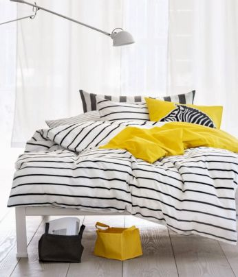 Visually pleasant yellow and grey bedroom designs ideas 20