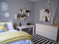 Visually pleasant yellow and grey bedroom designs ideas 27