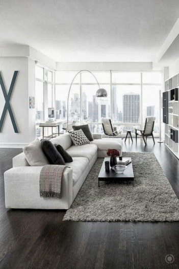 White furniture living room ideas for apartments 12