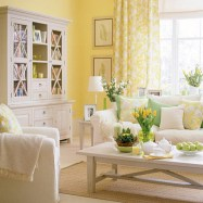 White furniture living room ideas for apartments 20
