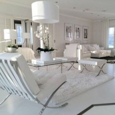 White furniture living room ideas for apartments 32