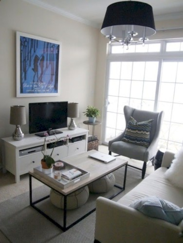 White furniture living room ideas for apartments 36
